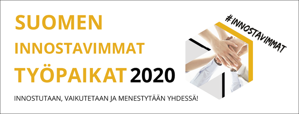 Finland's most inspiring workplaces 2020 acknowledment